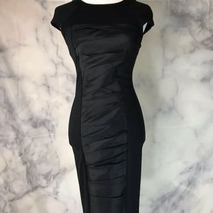 Ted Baker London Black Fitted Cap Sleeved Dress 2